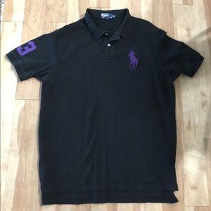 Polo Ralph Lauren Black Short Sleeve Collar Shirt